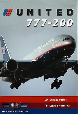 Just Planes United 777-200 World Air Routes Cockpit DVD