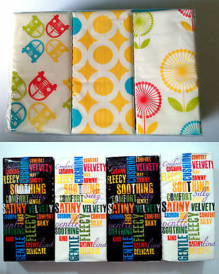 POCKET PAPER TISSUES 4pk TYPOGRAPHY 3pk KLEENEX GRAPHIC CAMPER FLOWERS 9x4ply