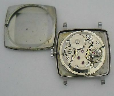 AS 1691-93 Movement Working Watch AS 1691 Maquina Funciona Vintage 1960