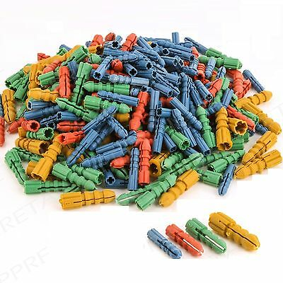 300 Assorted Mixed Size Plastic Wall Plug Screw Socket 5 6 7 8Mm Wall Anchor New