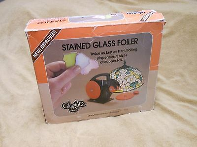 Stained Glass SUPPLIES GLASTAR FOILER Complete in the Box LOOK!