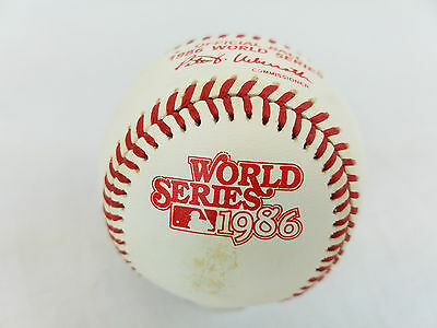 1986 Rawlings MLB Official World Series Game Baseball New York Mets vs Red Sox