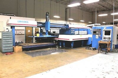 turret punching finn power punch press lots of tooling right angle