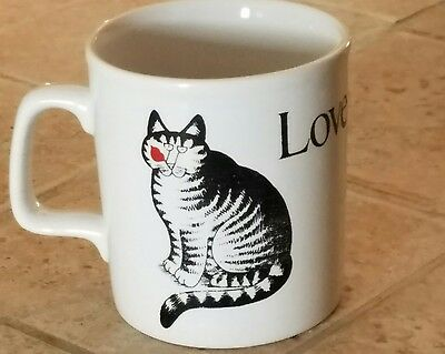 Vintage 80's B. Kliban Cat Coffee Cup Mug - Love a Cat
