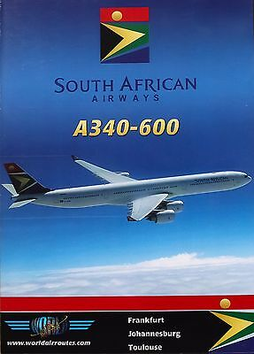 Just Planes South African Airways A340-600 World Air Routes Cockpit DVD