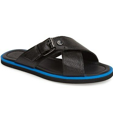 $450 Versace Collection Leather Slide Sandal Men's size 41 NEW