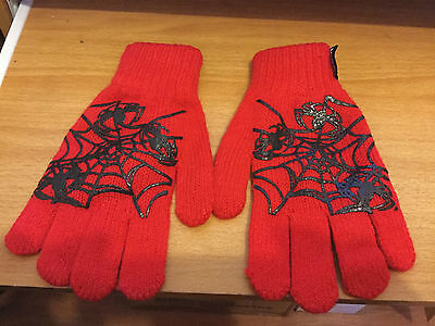 Brand New Red Ultimate Spiderman Gloves