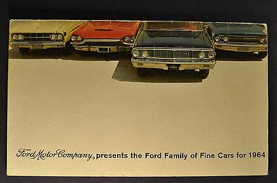1964 Ford Corp Brochure Galaxie Falcon Thunderbird Mercury Lincoln Continental