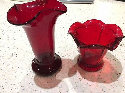 Cranberry Glass Vases