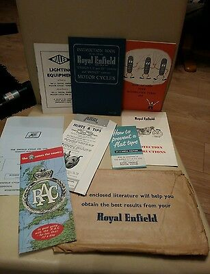 Royal Enfield Motorcycle owners Instruction Books - Ensign I II II & prince book