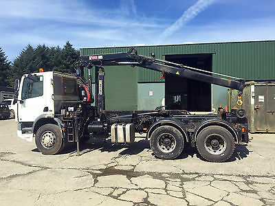 Foden Hook Loader Hook Lift with Hiab Crane Roll on off RORO hooklift skip lorry