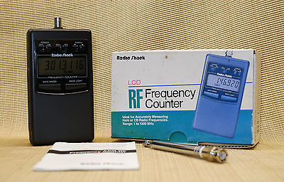 RADIO SHACK MODEL 22-305 LCD RF FREQUENCY COUNTER  1- 1,3 GHz BOX MANUAL