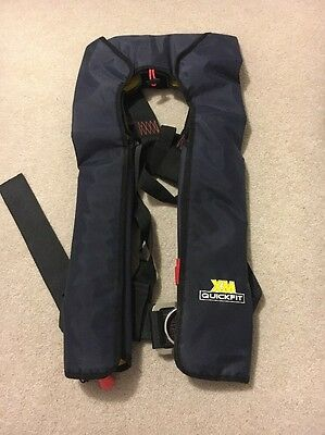 XM Quickfit Lifejacket Navy, Automatic With Harness