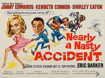 """Nearly a Nasty Accident 1961 16"""" x 12"""" Reproduction Movie Poster Photograph"""