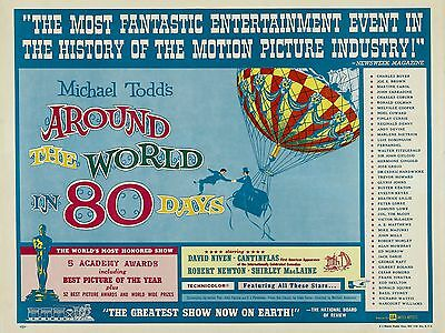 """Around the World in 80 Days 16"""" x 12"""" Reproduction Movie Poster Photograph"""