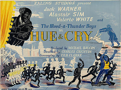 """Hue and Cry 1947 16"""" x 12"""" Reproduction Movie Poster Photograph"""