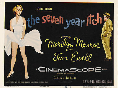 """The Seven Year Itch 1955 16"""" x 12"""" Reproduction Movie Poster Photograph"""