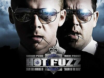"""Hot Fuzz 16"""" x 12"""" Reproduction Movie Poster Photograph"""
