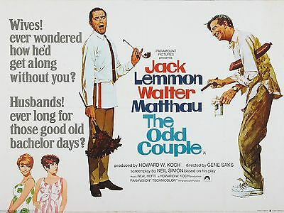 """The Odd Couple 16"""" x 12"""" Reproduction Movie Poster Photograph"""