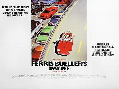 """Ferris buellers day off 16"""" x 12"""" Reproduction Movie Poster Photograph"""