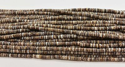 Olive Shell Heishi Beads  24 Inches Strand 2-3  mm