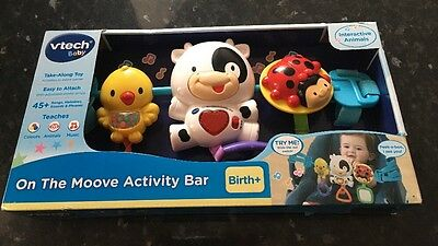 VTech Baby On The Moove Car Seat Pushchair Activity Bar NEW & Boxed