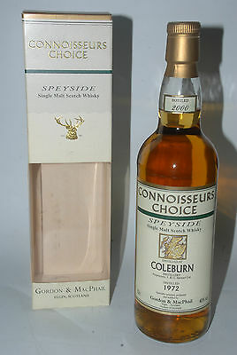 WHISKY COLEBURN 1972 CONNOISSEURS CHOICE 28 YEARS OLD BOTTLE IN 2000 IN BOX 70cl