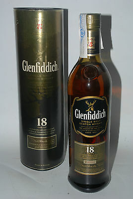 WHISKY GLENFIDDICH 18 YEARS OLD PURE MALT BATCH No 3060 RARE IN BOX 70cl.