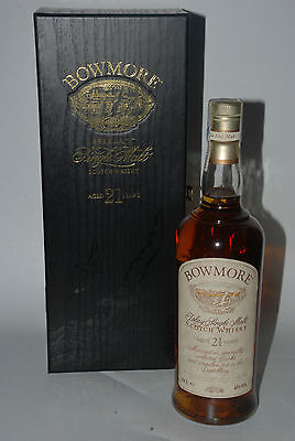 WHISKY BOWMORE 21 YEARS OLD IN BOX RARE ISLAY SINGLE MALT 70cl.