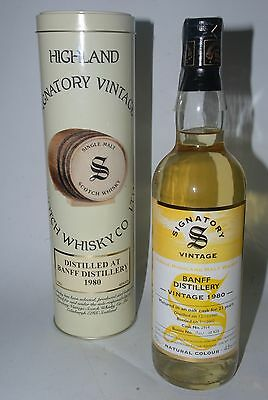 WHISKY SIGNATORY VINTAGE BANFF 1980 LIMITED EDITION 21 YEARS OLD 70cl.
