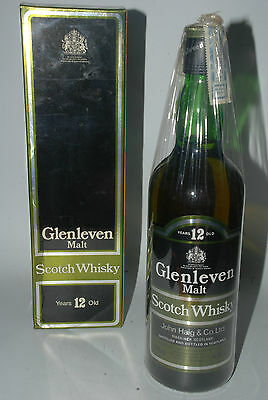 WHISKY GLENLEVEN 12 YEARS OLD  MALT SCOTCH WHISKY  AÑOS 80 70cl IN BOX