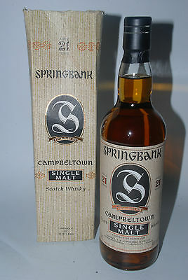 WHISKY SPRINGBANK 21 YEARS OLD IN BOX RARE CAMPBELTOWN SINGLE MALT  70cl.
