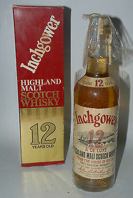 WHISKY INCHGOWER 12 YEARS OLD HIGHLAND MALT SCOTCH WHISKY  AÑOS 80 75cl IN BOX