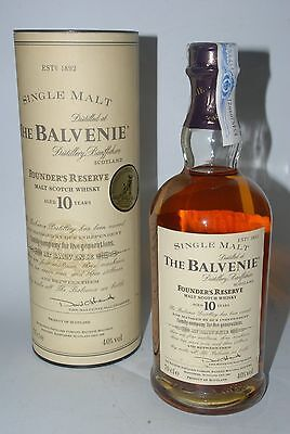 WHISKY THE BALVENIE 10 YEARS OLD FOUNDER´S RESERVE IN BOX RARE SINGLE MALT 70cl.