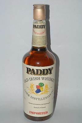 WHISKY PADDY OLD IRISH SCOTCH WHISKY AÑOS 70 MPORTED 75cl. CORK DISTILLERIES CO.