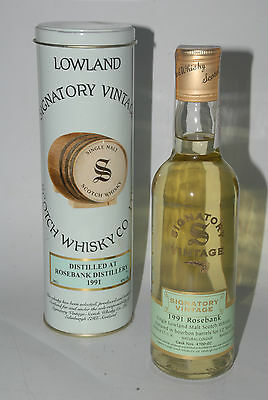 WHISKY SIGNATORY VINTAGE ROSEBANK 1991 LIMITED EDITION 12 YEARS OLD 37,5cl.