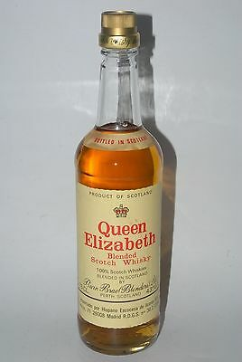 WHISKY QUEEN ELIZABETH SELECTED BLENDED OLD SCOTCH WHISKY AÑOS 70 75cl