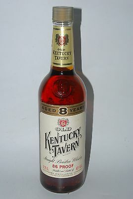 WHISKY OLD KENTUCKY TAVERN STRAIGHT BOURBON WHISKY AÑOS 70 75cl 86 PROOF 8 YEARS
