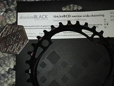 Absolute Black 32t Thick / thin narrow / wide Ring 104 BCD 1x9/10/11