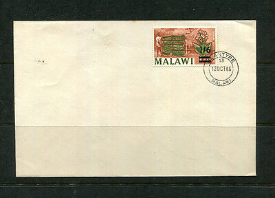 Malawi 1966 Fdc First Day Stamp Cover  Overprint 1/6