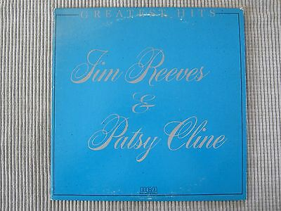 JIM REEVES & PATSY CLINE ~ GREATEST HITS  VINYL RECORD LP / 1981 Country Stars