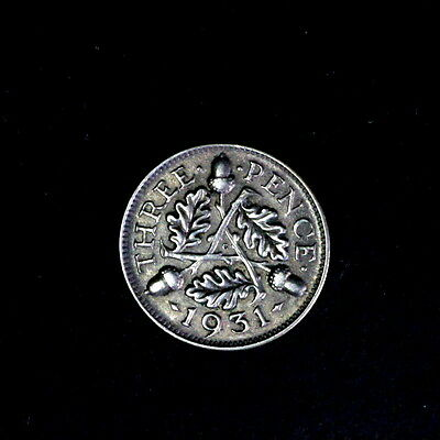 1931 George V  Silver Threepence, In Better Condition,a101