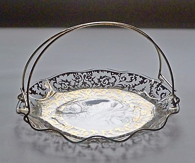 Unusual Chance Glass Cake Plate with Removable Handle