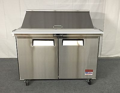 "48"" Sandwich Prep Unit Salad Table Refrigerator Prep Cooler 2 Door Commercial 4"