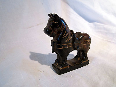 A Vintage Ethnographic Carved Marble Horse