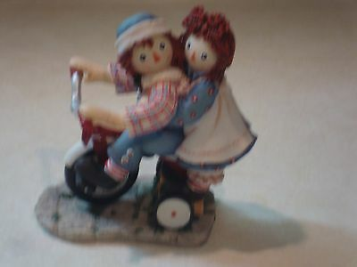 "Raggedy Ann & Andy by Enesco/""Happiness is Sharing A Cheery Smile"""