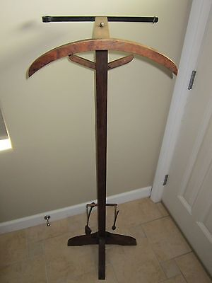 Antique Vtg 1922 Nightrack Mfg Valet Butler Stand Suit Garment Hanger Rack Tree