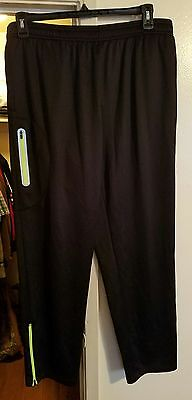Fila Sport Running Pants Men's XXL new w/tags! Elastic Waist w/ Drawstring Black