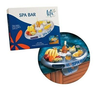 Floating Hot Tub Spa Pool Bar, Inflatable Side Drink Tray Beer Wine Snack Holder