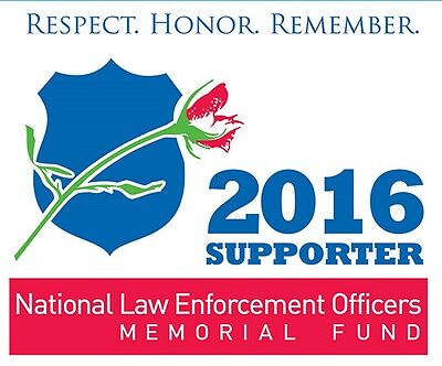 2016 National Law Enforcement Officers Memorial Fund Supporter Static Cling
